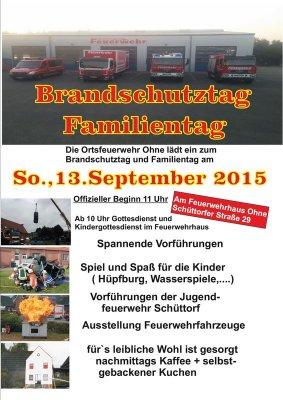 Flyer Brandschutztag 2015