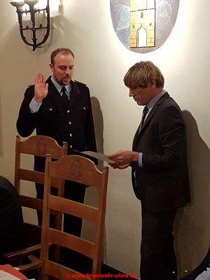 171211 ErnennungVereidigung Thomas Byknüver als Ortsbrandmeister 1