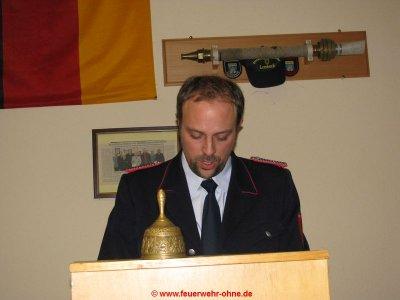 180208 JHV OF Ohne 1 - Ortsbrandmeister Thomas Byknüver